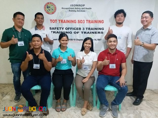 Online TOT Training of Trainers SO3 Safety Officer 3 DOLE Tarlac