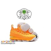 NIKE LEBRON 15 BASKEBALL SHOES - LEBRON 15 YELLOW/WHITE
