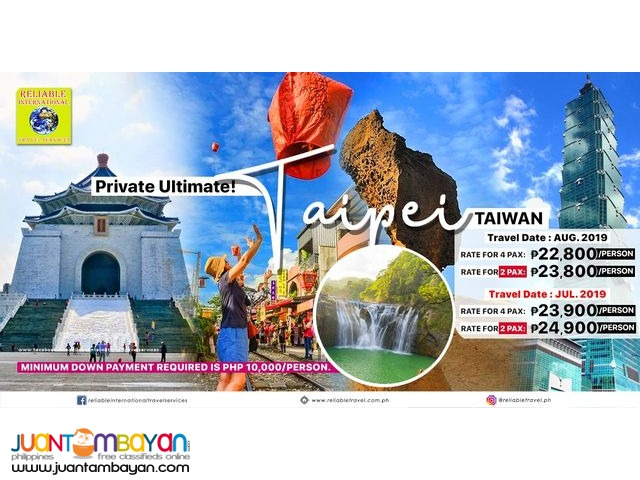 Private Ultimate 4D3N Taiwan Tour Package with Airfare