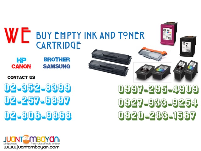 We Buy Ink and Toner Cartridge