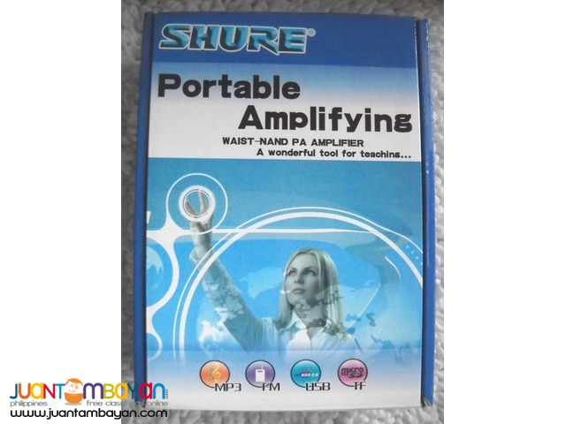 Shure SH6699 Waistband Belt Type Portable Amplifier Power Speaker