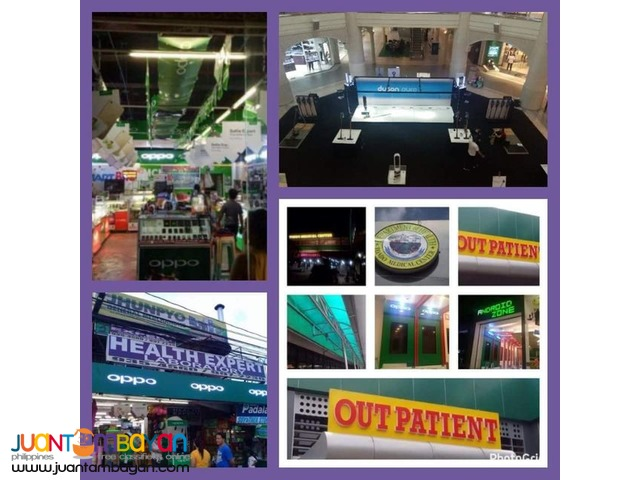 Advertising/Fabricator/Event setup/Printing