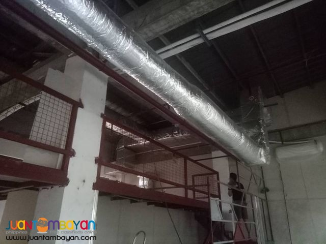 Ducting Works with insulation
