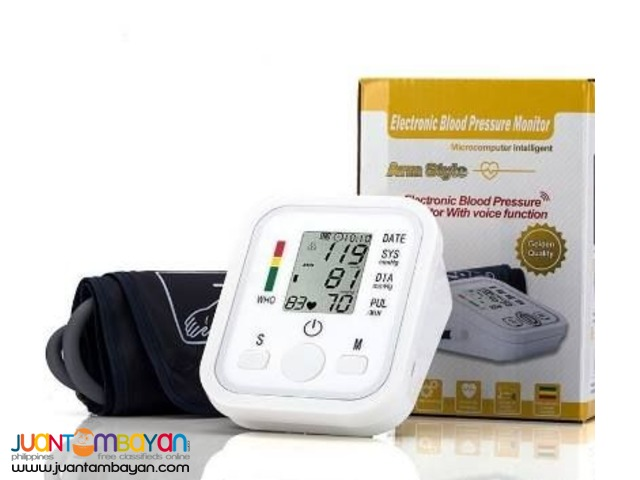 DIGITAL ELECTRONIC BLOOD PRESSURE & HEART BEAT MONITOR