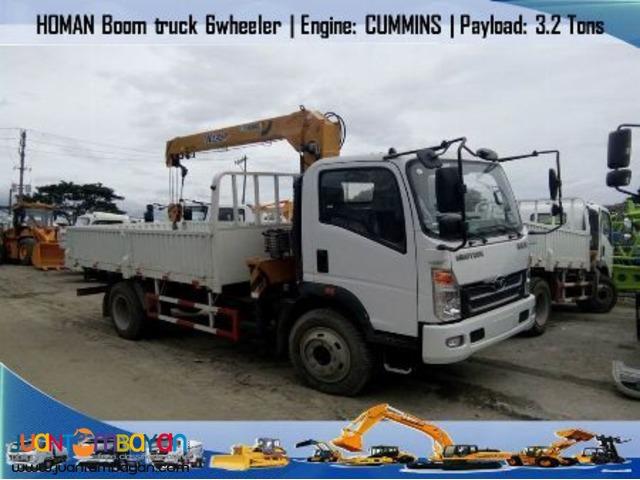 Homan H3- 6 wheeler (3.2 ft) Boom Truck Euro IV