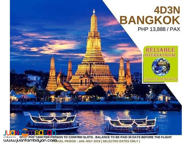 4D3N Bangkok Thailand Promo Package with Airfare!