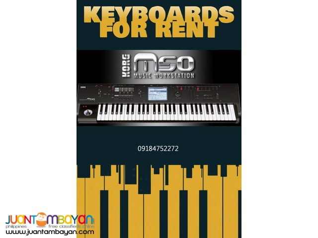 KEYBOARDS FOR RENT