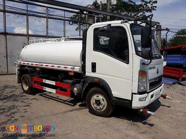H3 Homan Water Tanker 4KL Sprinkler Sinotruk 6wheeler