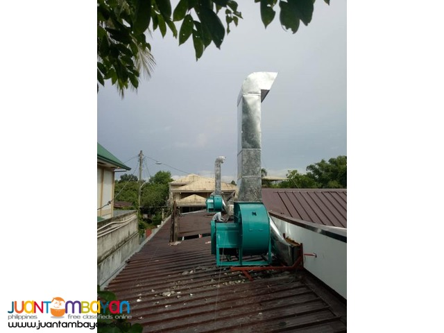 exhaust blower fresh air supply and installation