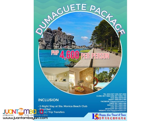 3D2N Dumaguete Package