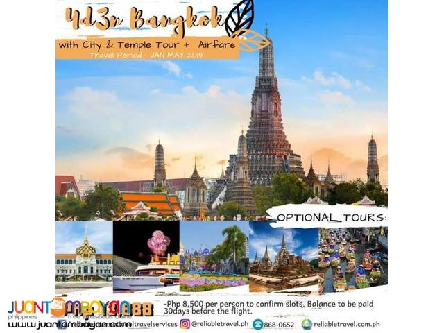 Bangkok Tour Package + Airfare