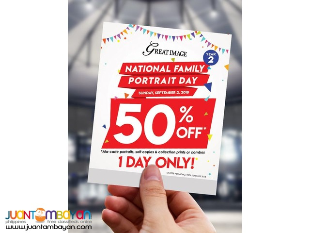 50% OFF at Great Image National Family Portrait Day