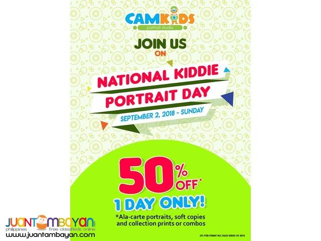 50% OFF at Camkids National Kiddie Portrait Day