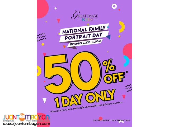 50% OFF at Great Image Kids One Day Only!