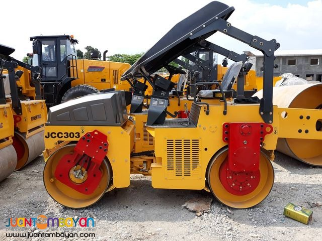 JCC303 Road roller 3tons Double Drum Pison