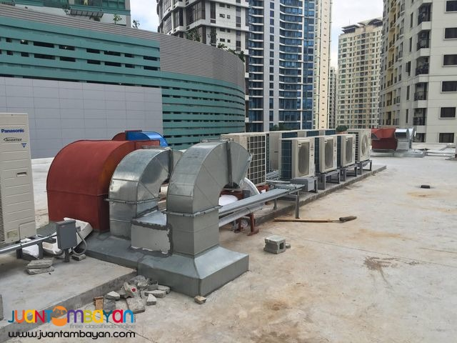 Chilled Water, ducting, exhaust and fresh air