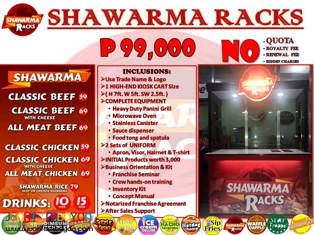 Shawarma Rack food cart franchise