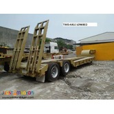 Lowbed Semi Trailer Tri-axle 60tons