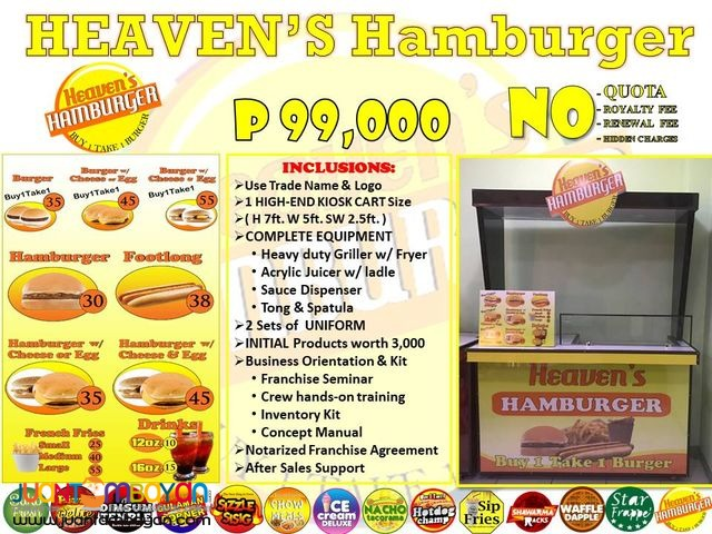Heaven's hamburger food cart franchise