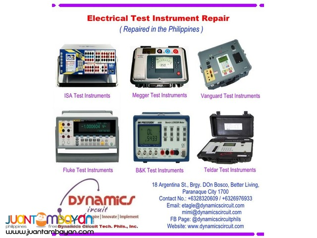 Electrical Test Instrument Repair Philippines by Dynamics Circuit