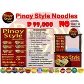 Pinoy style noodles food cart franchise