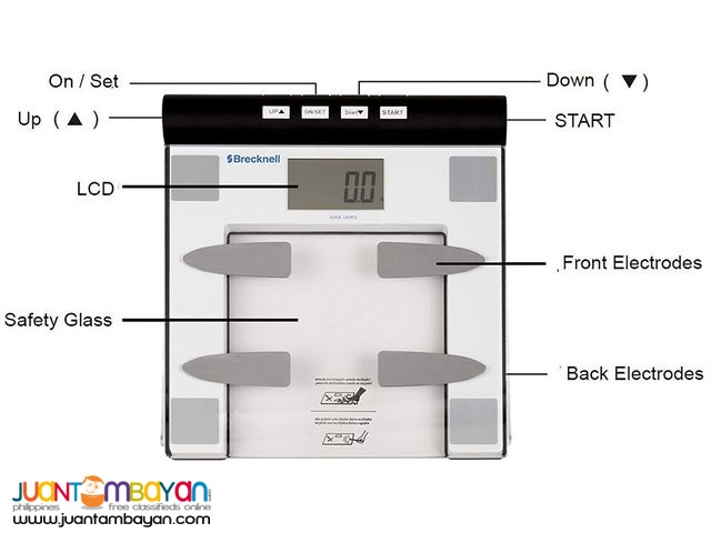 Salter Brecknell Body Fat Bathroom Scale BFS 150