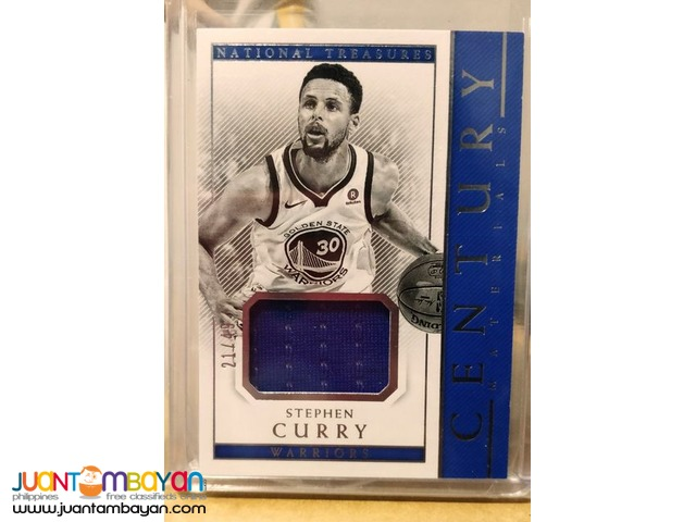 Stephen Curry Panini National Treasures Century Materials card