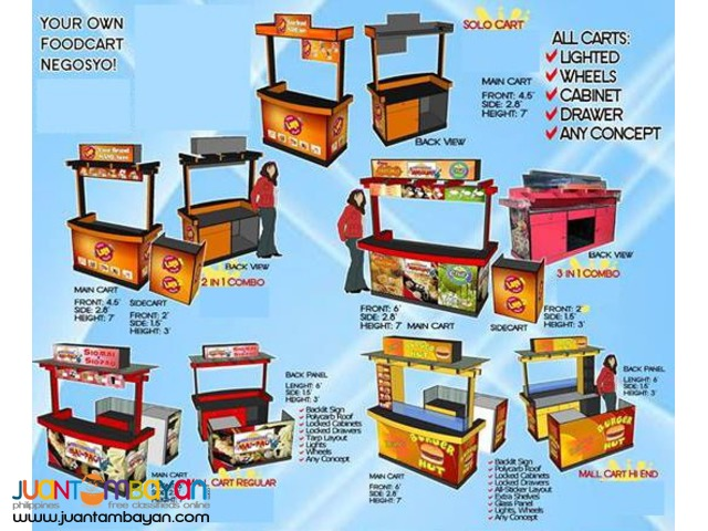 Mall Food Kiosk, Cart, Booth, Stall for Sale