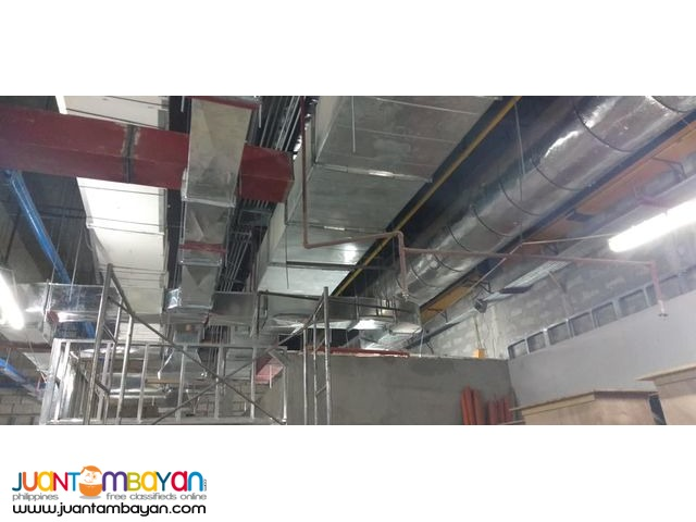 Exhaust Motor and Fresh Air and Ducting Works