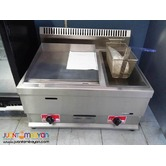 GAS DEEP FRYER WITH GRIDDLE