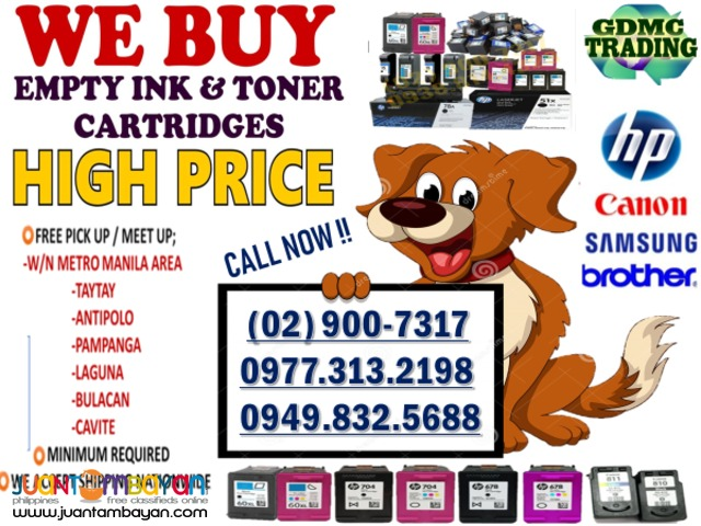 WE ARE BUYING EMPTY INK AND TONER CARTRIDGES
