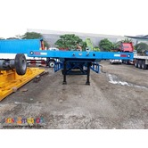 Tri Axle Semi Trailer Flatbed 45tons 40feet