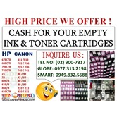 LEGIT BUYER OF EMPTY INK AND TONER CARTRIDGES