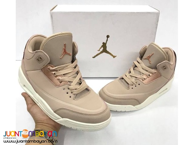 9aff6f428fbc AIR JORDAN 3 ROSEGOLD - Women s RUBBER SHOES