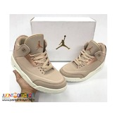 AIR JORDAN 3 ROSEGOLD - Women's RUBBER SHOES