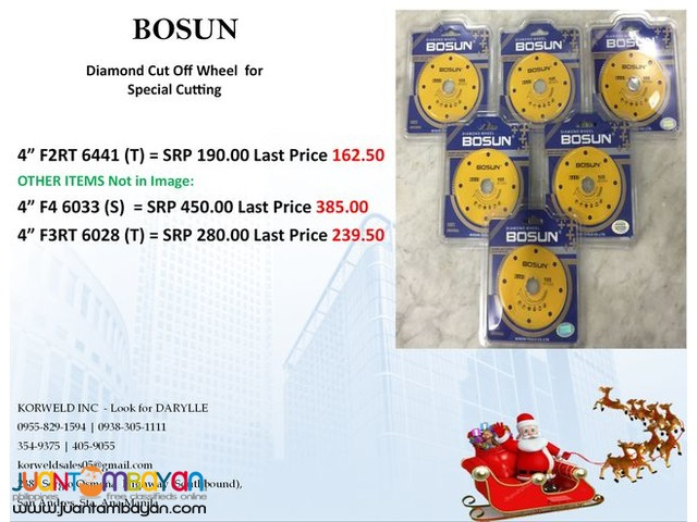 Bosun Diamond Cutting Wheel for Special Cutting
