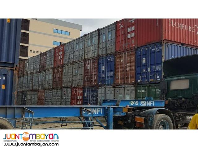 Empty Cargo Worthy Container Van