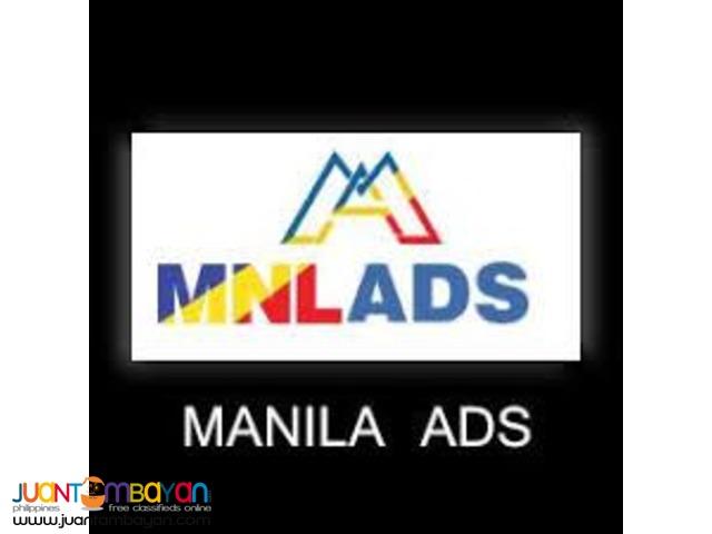 Manila Ads - Your roads to Passive Income