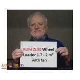 RUM ZL30 Wheel Loader 1.7 - 2 m³ with fan