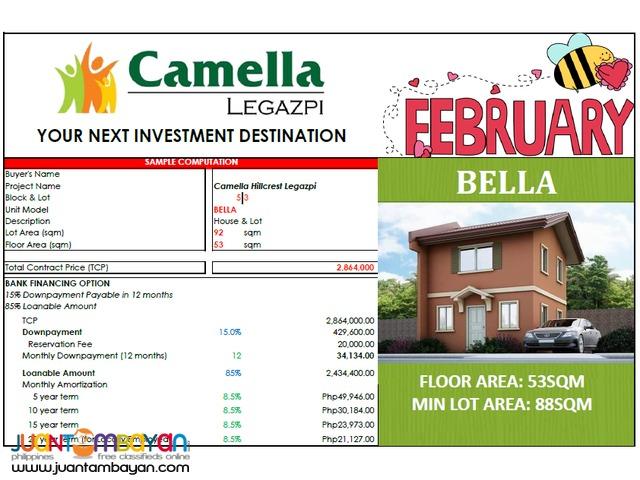 Bella Model Camella Homes Legazpi