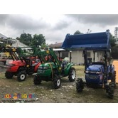 FARM TRACTOR WITH BACKHOE LOADER