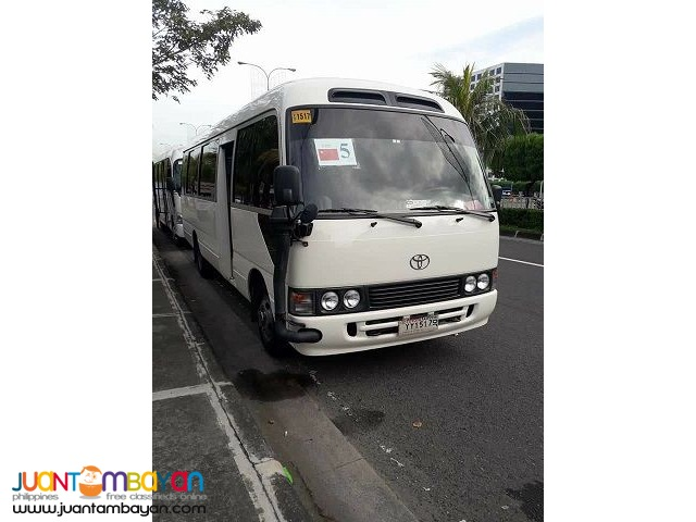 Toyota Coaster For rent call: 09088733554