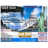 7D6N US East Coast Package