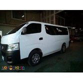 NISSAN URVAN FOR RENT!! AVAIL OUR PROMO NOW!! CALL: 09088733554