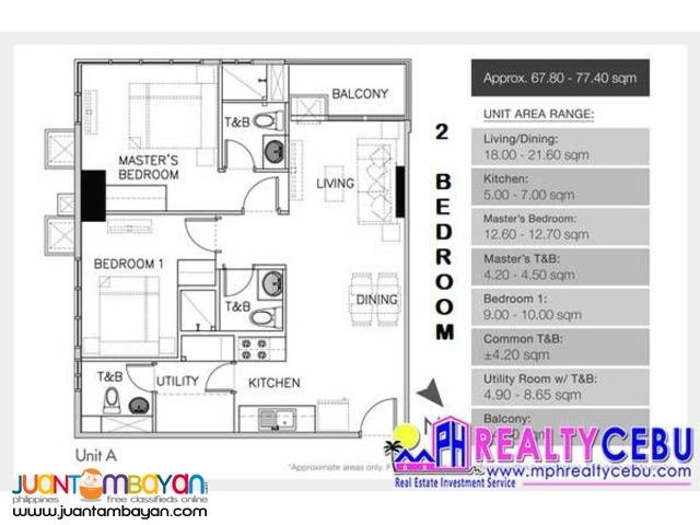 67m² 2BR Condominium at Galleria Res. in Cebu City
