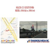 SLEX C5 EXIT NB BILLBOARD SITE FOR LEASE