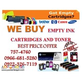 Empty Ink Cartridges and Toner