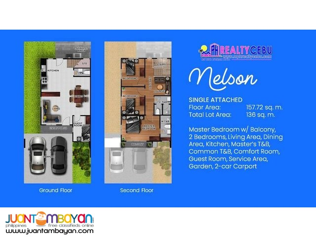 Nelson 4BR Single Attached House at Breeza Scapes Lapu-Lapu