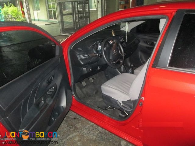 Toyota Vios RED FOR RENT A CAR