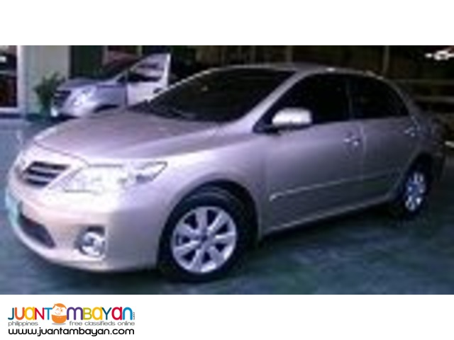 TOYOTA ALTIS FOR RENT A CAR